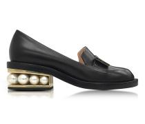 Casati Black Leather Pearl Moccasin