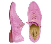 Handgefertigte Schnürschuhe aus italienischem Leder in rosa