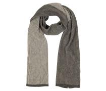 Langer Schal mit Streifen in beige&braun