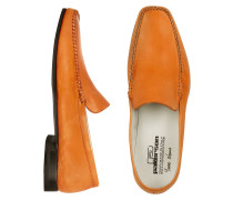 Halbschuhe aus italienischem Leder in orange