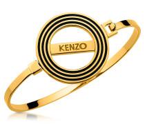Armband in goldfarben mit Anhänger und Logo