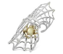 Spiderweb - Ring aus Silber und Bronze