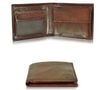 Story Uomo Brieftasche mit Münzfach in dunkelbraun