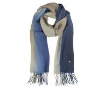 Stola aus Wolle und Kaschmir in blau und braun