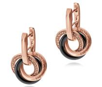 Ohrringe aus versilbertem PVD mit Kristallen und Sterlingsilber