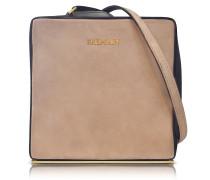 Pablito Nude Velvet Shoulder Bag