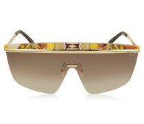 EP0007 Fantasy Metal Shield Sunglasses