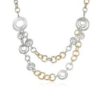 Halskette aus Ringen mit Swarovskisteinen besetzt