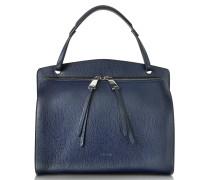 Blunt Open Blue Cross Printed Leather Medium Handbag