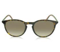 GG 1102/S runde Sonnenbrille mit rot-grünen Schläfen