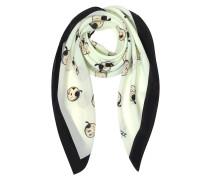 Boutique Moschino Olive Oyl Tuch aus Seide in schwarz und weiß
