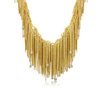 Flirt - Halskette mit Anhängern aus 18k Gelbgold mit Diamanten