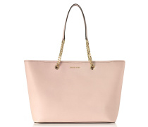 Jet Set Travel Chain Medium Soft Pink T/Z Saffiano Leather Multifunction Tote