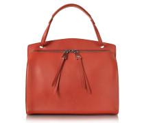 Blunt Open Red Soft Leather Medium Handbag