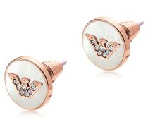 Ohrringe aus Edelstahl in rosegold mit Logo