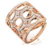 Seventies - 18 KT Ring aus Bronze und Rosegold mit Glitzer