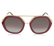 EP0014 Sonnenbrille aus goldfarbenem Metall & Acetat