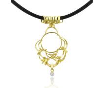 Scintille - Halskette mit Anhänger aus 18k Gelbgold mit Diamanten