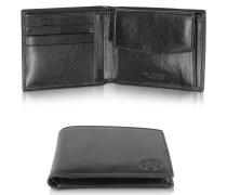 Story Uomo Brieftasche aus schwarzem Leder