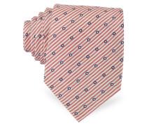 Gewobene Seidenkrawatte mit Print Dots and Stripes