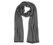 Langer Schal aus Wolle mit Streifen in grau/schwarz