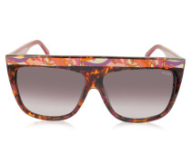 EP0008 Havana Oversize Damen-Sonnenbrille aus Acetat