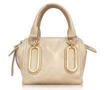 Paige Glazed Leather Mini Crossbody Bag