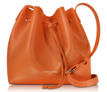 Pur Smooth Leather Bucket Bag