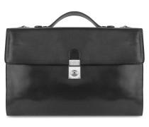 Aktentasche für Herren aus italienischem Leder in schwarz