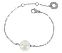 Perleadi Armband aus Muranoglasperlen in weiß