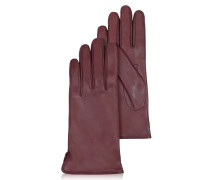 Bordeauxrote Damenhandschuhe aus italienischem Leder