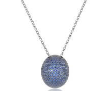 Halskette aus Sterling Silber mit Blauen Steinen