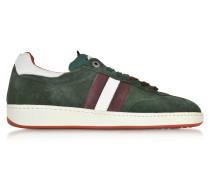 Ghiberti Green Suede Flat Men's Sneaker