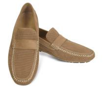 Portofino - Mokassin Schuhe aus Wildleder in hellbraun