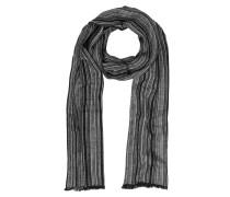 Langer Schal in schwarz&grau mit Fransen