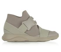 Putty Gray Neoprene High Top Women's Sneakers