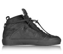 Ulisse Black Nabuk High Top Sneaker