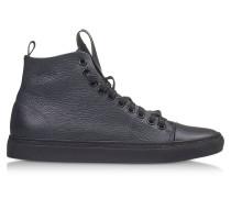 Sorrento High Top Herren-Sneaker aus Leder in dunkelblau