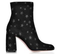 Black Stars High Heel Bootie