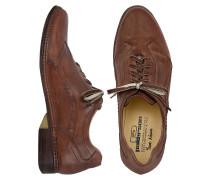 Italienische Schnürschuhe aus Leder von Hand gearbeitet in dunkelbraun