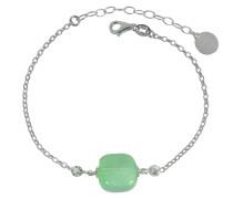 Florinda Armband aus Sterlingsilber mit Muranoglas in grün