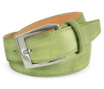 Herrengürtel aus italienischem Leder in pistaziengrün