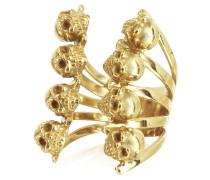 Ring aus Bronze mit Totenköpfen