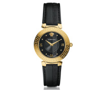 Daphnis Black and PVD Gold Plated Women's Watch w/Greek Engraving