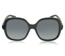MJ 589/S 807HD Damen-Sonnenbrille in schwarz