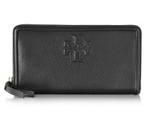 Thea Pebbled Leather Multi Gusset Zip Continental Wallet