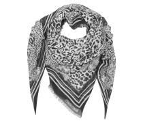 Tuch mit Animal Print in schwarz & weiß