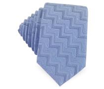 Krawatte aus gewobener Seide mit Zickzackmuster