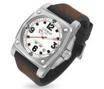 Teseo Tesei - Armbanduhr mit Datumsanzeige in braun