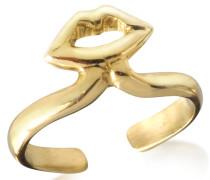 Bronze Midi Ring mit Mund